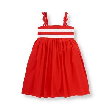 American Red Bow Striped Dress at JanieandJack