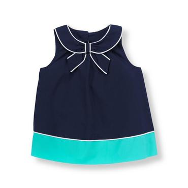 Marine Navy Bow Colorblock Top at JanieandJack