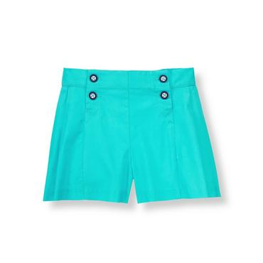 Aqua Pleated Culotte at JanieandJack