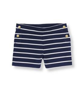 Sailing Striped Canvas Short