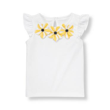 Pure White Flower Corsage Top at JanieandJack