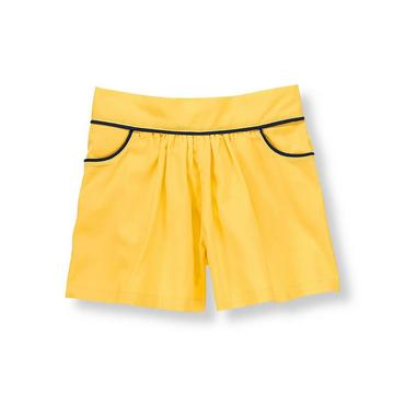Sunshine Yellow Piped Culotte at JanieandJack
