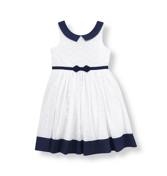 Ribbon Sash Eyelet Dress