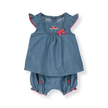 Baby Girl Chambray Watermelon Chambray Two-Piece Set at JanieandJack