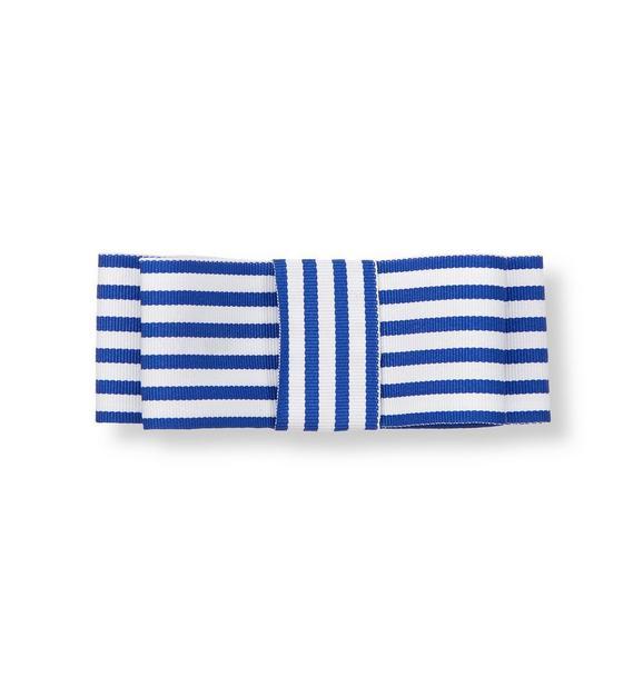 Stripe Bow Barrette