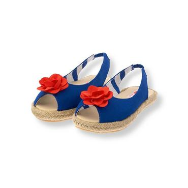 Royal Blue Corsage Espadrille Sandal at JanieandJack