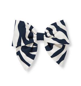 Zebra Bow Barrette