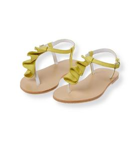 Leather Ruffle Sandal