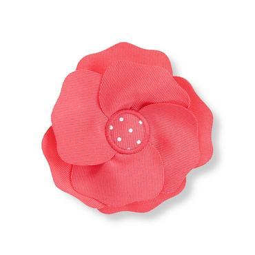 Rosy Pink Rosette Ribbon Barrette at JanieandJack