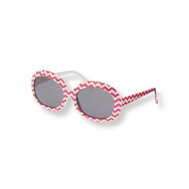 Rosy Pink Stripe Chevron Sunglasses at JanieandJack