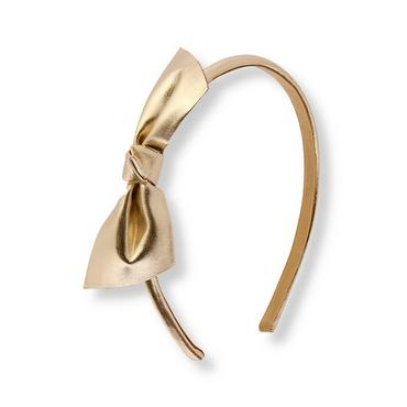 Metallic Gold Metallic Gold Bow Headband at JanieandJack