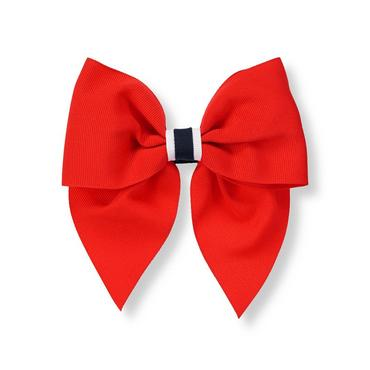 American Red Ribbon Bow Barrette at JanieandJack