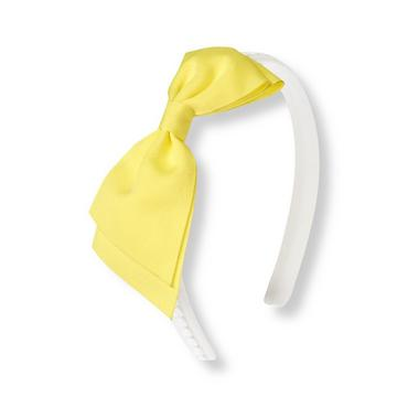 Citron Bow Circle Trim Headband at JanieandJack
