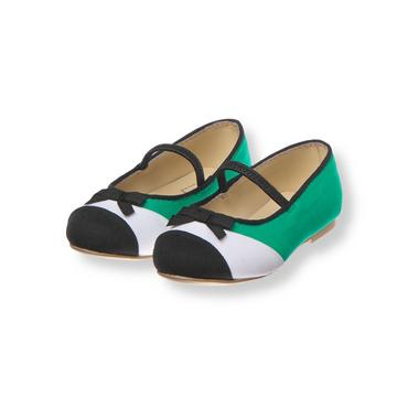 Emerald Green Colorblock Shoe at JanieandJack