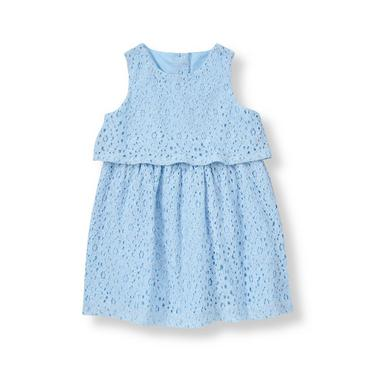 Nantucket Blue Tiered Lace Dress at JanieandJack