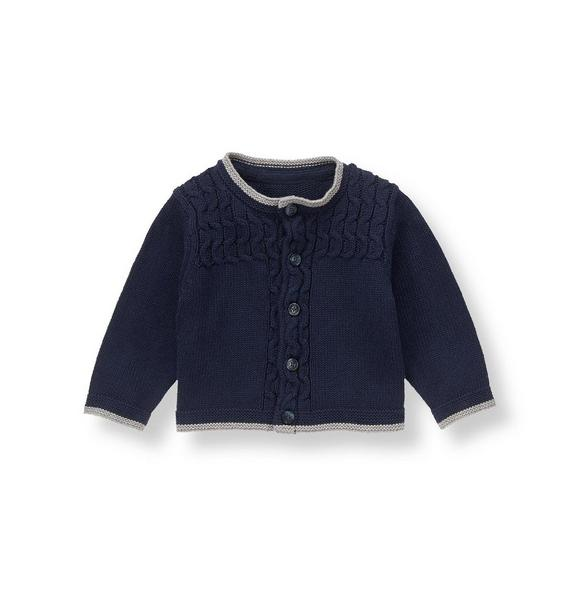 Tipped Cable Cardigan