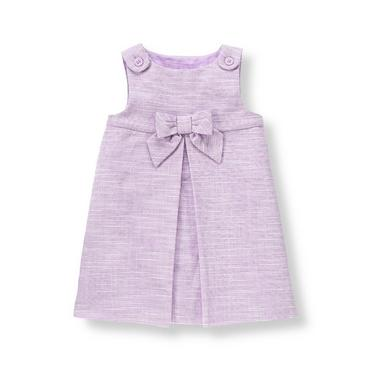 Baby Girl Lavender Heather Bow Boucle Jumper at JanieandJack