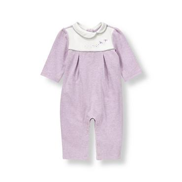 Baby Girl Lavender Heather Dragonfly One-Piece at JanieandJack