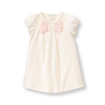 Ivory Dot Bow Dot Dress at JanieandJack