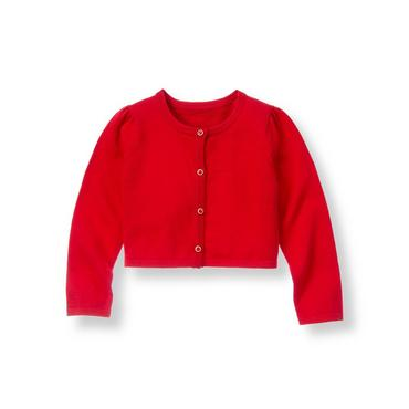 Crimson Cropped Cardigan at JanieandJack