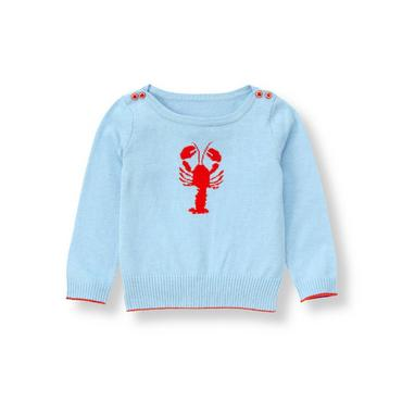 Nantucket Blue Lobster Sweater at JanieandJack
