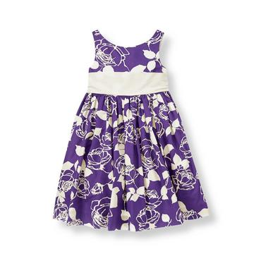 Royal Purple Rose Rose Floral Dress at JanieandJack