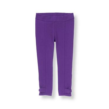 Royal Purple Bow Ponte Pant at JanieandJack