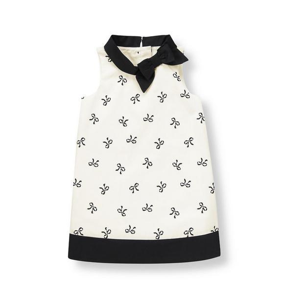 Bow Dobby Dress