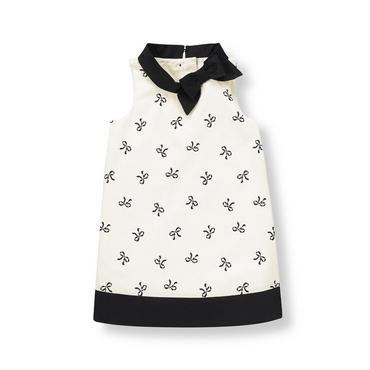 Ivory Bow Bow Dobby Dress at JanieandJack