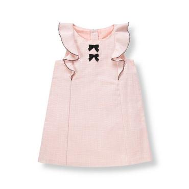 Parisian Pink Ruffle Boucle Dress at JanieandJack