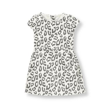 French Ivory Leopard Leopard Corduroy Dress at JanieandJack