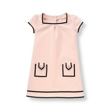 Parisian Pink Ribbon Ponte Dress at JanieandJack