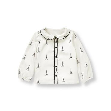 French Ivory Eiffel Tower Top at JanieandJack