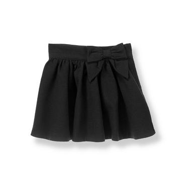Black Bow Boucle Skirt at JanieandJack