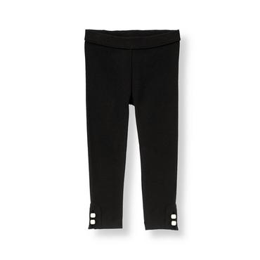 Black Button Ponte Pant at JanieandJack