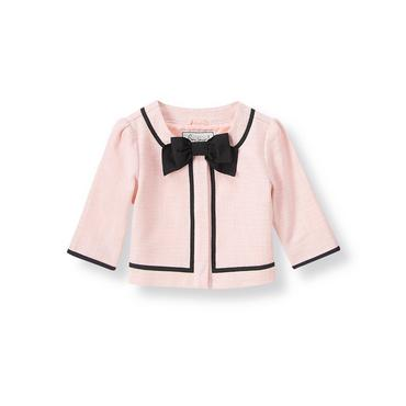 Parisian Pink Bow Boucle Jacket at JanieandJack