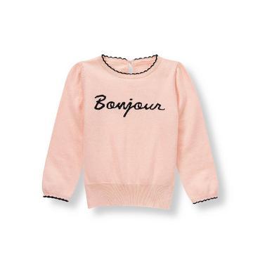 Parisian Pink Bonjour Sweater at JanieandJack
