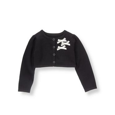 Black Ribbon Cropped Cardigan at JanieandJack