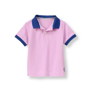 Lavender Sailboat Pique Polo Shirt at JanieandJack