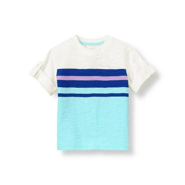 Ocean Indigo Stripe Striped Tee at JanieandJack