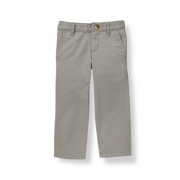 Slate Grey Twill Pant at JanieandJack