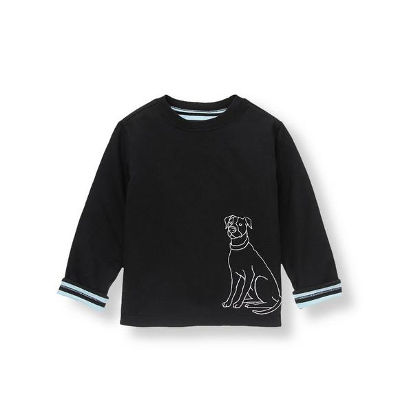 Dog Striped Reversible Tee