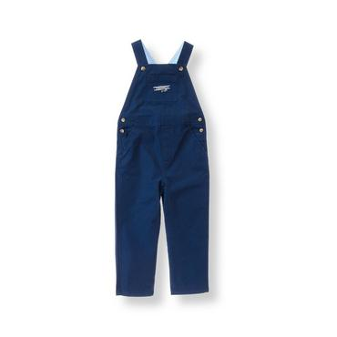Boys Navy Airplane Canvas Overall at JanieandJack