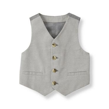 Aviator Grey Oxford Suit Vest at JanieandJack