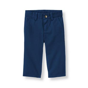 Navy Canvas Pant at JanieandJack