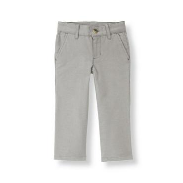 Aviator Grey Oxford Pant at JanieandJack