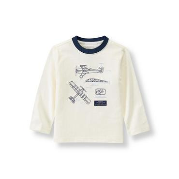Ivory Airplane Tee at JanieandJack