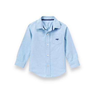 Skyway Blue Check Check Oxford Shirt at JanieandJack