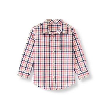 Salmon Check Gingham Shirt at JanieandJack