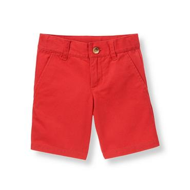 Champion Red Twill Short at JanieandJack